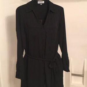 Express shirt dress black size m